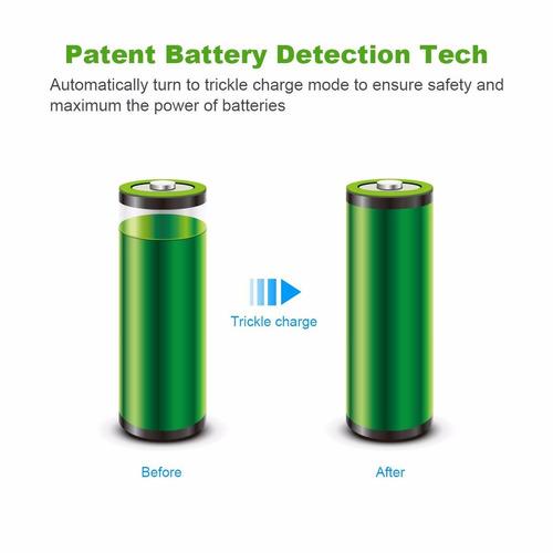 8 bay aa, aaa, ni-mh, ni-cd rechargeable battery charger ebl