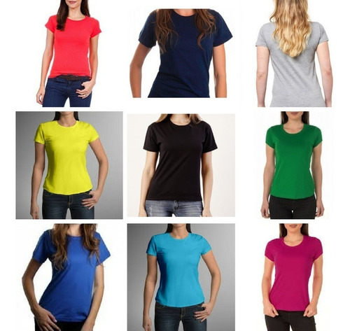 8 blusas baby look lisas cores 100% algodão fio 30 atacado
