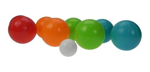 8 bolas para bochas, plástico