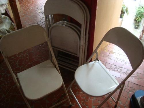 8 cadeiras de ferro dobraveis usados