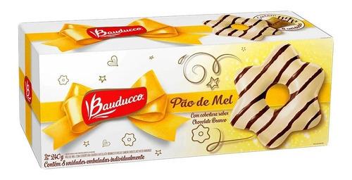 8 caixas pão mel cobertura chocolate branco - 8 un. bauducco