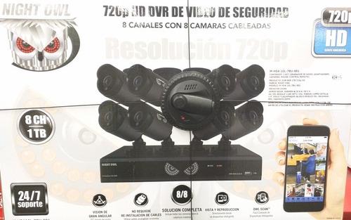 8 cámaras de seguridad vigilancia hd video graba 1 t