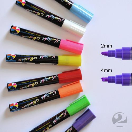 8 canetas posca vidro  marker lousaled vitrine loja carros