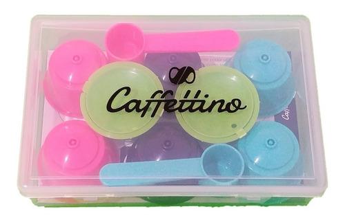 8 capsulas dolce gusto recargables caffettino