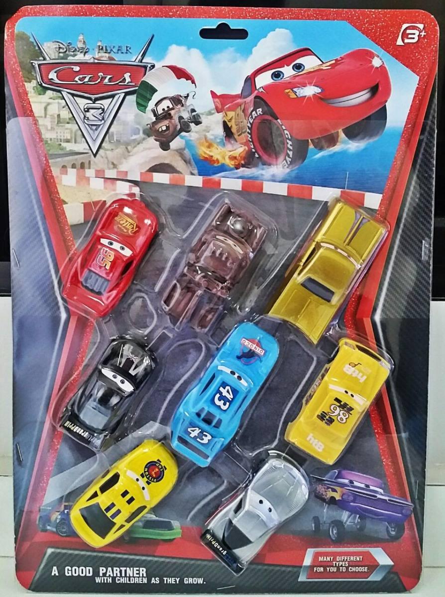 8 Carrinhos De Brinquedo Filme Carros 3 Mcqueen Cars R