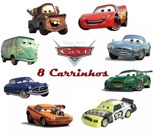 8 carrinhos de brinquedo filme carros relâmpago mcqueen cars