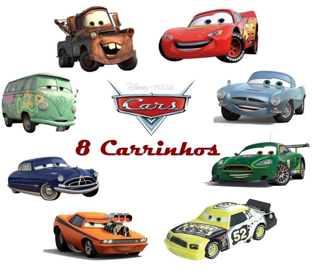3c40e2c73a8 8 Carrinhos De Brinquedo Filme Carros Relâmpago Mcqueen Cars - R  65 ...