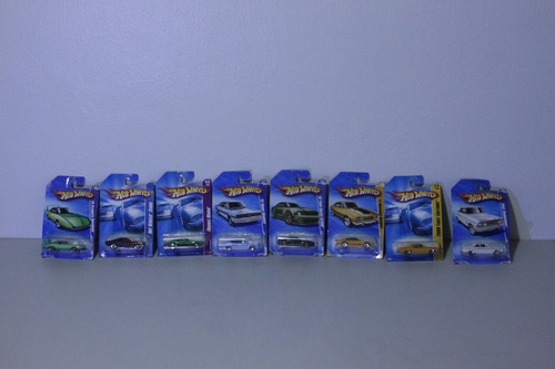 8 carros hotwheels en blister nuevos(20vrdes)