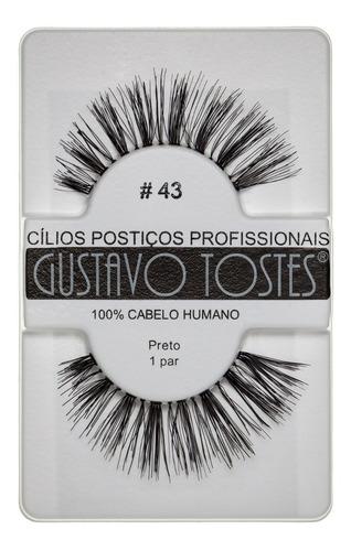 8 cílios postiços naturais 100% cabelo humano atacado