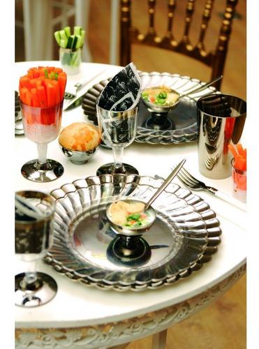 8 colher de mesa bronze 18cm decoração festas