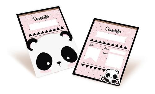 8 convites panda decoração festas