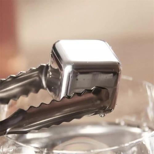 8 cubos hielo acero inoxidable enfriar cualquier bebida envio gratis