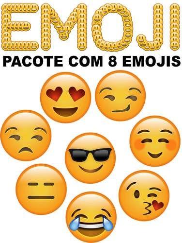 8 Emojis Whatsapp Vetorizados Em Corel Draw Emoticon Arte R 12 90