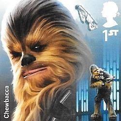8 estampillas inglaterra star wars guerra galaxias año 2017