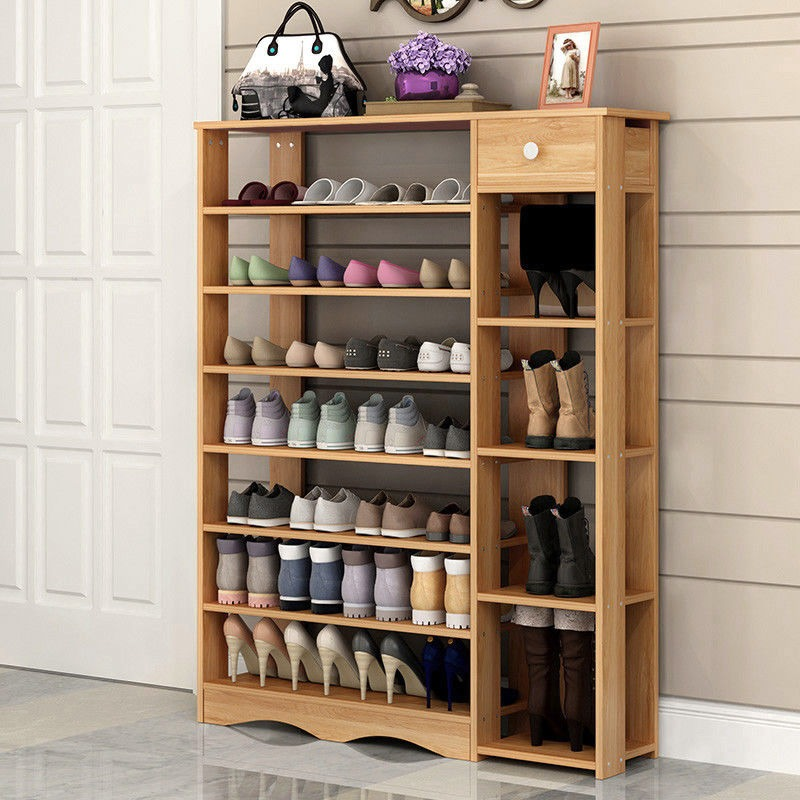 8 estantes de mdf de estante para zapatos de madera con - Muebles de zapatos ...