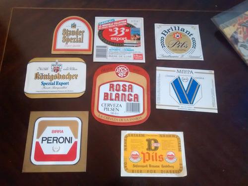 8 etiquetas de cervesa  diferentes (12