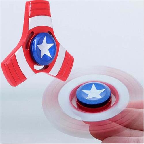 8 fidget spinner metalico marvel original juguete antiestrés