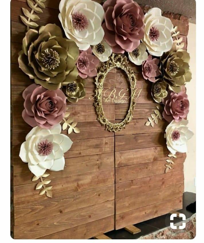 8 Flores Gigante Papel 23cm Decoraçao Festa Casamento Luxo R$ 119,99 em Mercado Livre