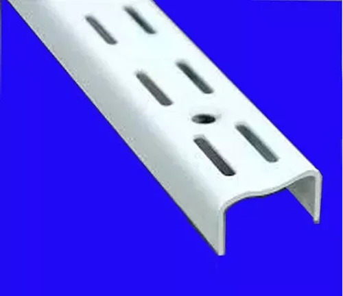 8 gancho mensula 17 cm-4 de 27 y 4 riel 1,00 blanco