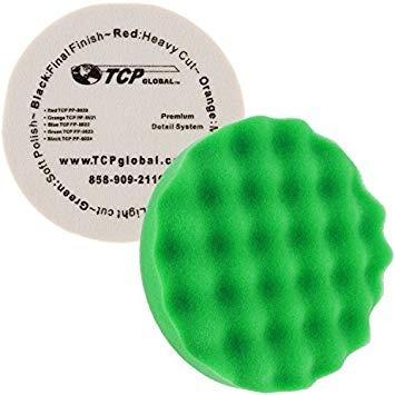 8  green waffle espuma fina para pulir apretón del cojín f