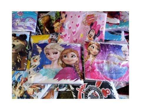 8 jogo de lençol infantil com elastico personagem e fronhas
