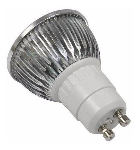 8 lampada + soq led dicroica bivolt branco frio spot gu10 3w