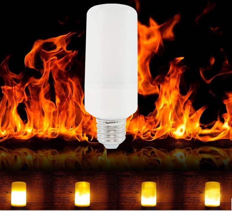 1ca1f1e0285 8 Lamparas Led Llama Efecto Fuego Antorcha Farol -   2.000