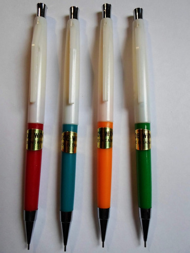 8 lapices mecánicos portaminas 0.5mm plasticos importados