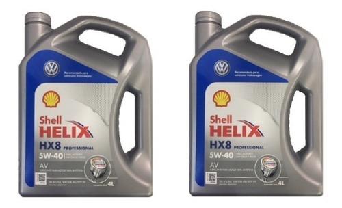 8 lt aceite shell helix professional hx8 5w40 100% sintético volkswagen amarok repuestos originales