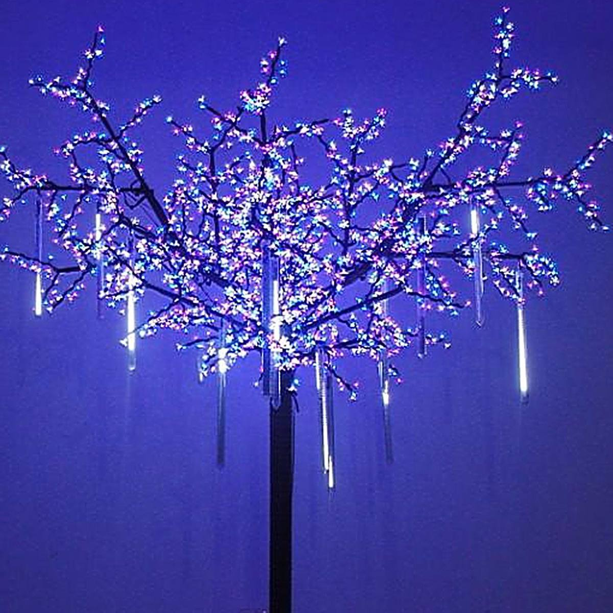 8 Luces Lluvia Dropicicle Snow Fall String Led Arbol