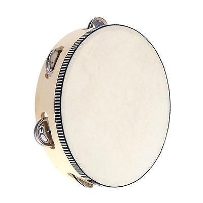 8  mano held pandero tambor campana abedul metal jingles...