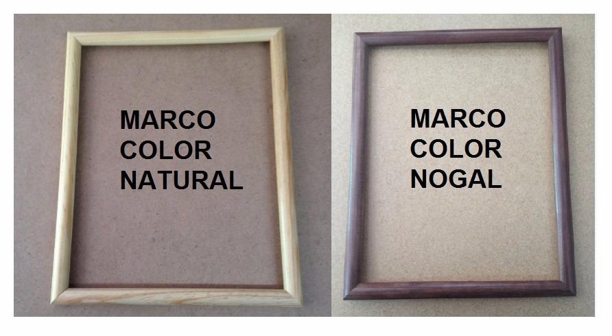 8 Marcos Carta Madera: 8.46x11, 21.5x28cm. Todo Incluido - $ 598.00 ...