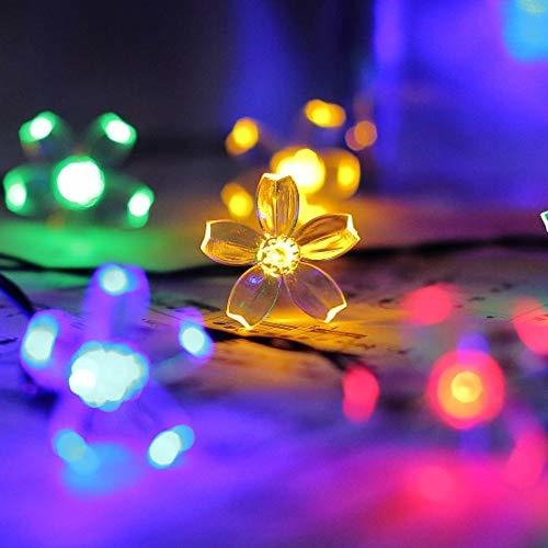 8 Modes Solar Flower String Lights
