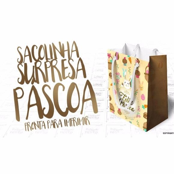 8 Moldes Sacolinha De Pascoa Sacola Silhouette Imprimir R 10 99