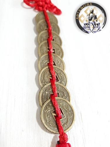 8 monedas chinas /18 con campana feng shui a elegir artenora