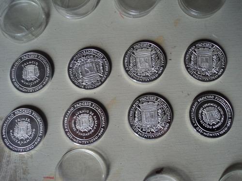 8 monedas de 1976 de los 250 años de la fundacion de montevi