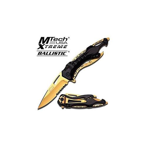 8 negro y oro titanio acero inoxidable cuchil + envio gratis