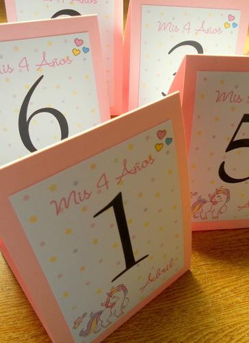 8 números de mesa indicadores personalizados menú