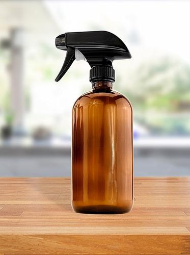 8 oz de vidrio ámbar boston ronda botellas del aerosol (2 pa