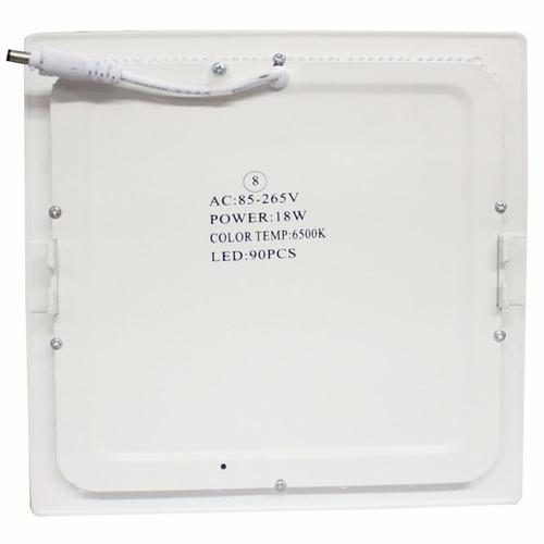8 painel led 18w p/ embutir em forros de gesso