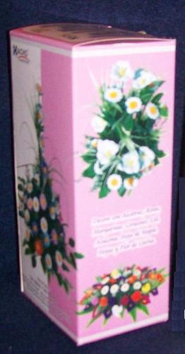 8 pares moldes frisadores para hacer flores c/ goma eva mini