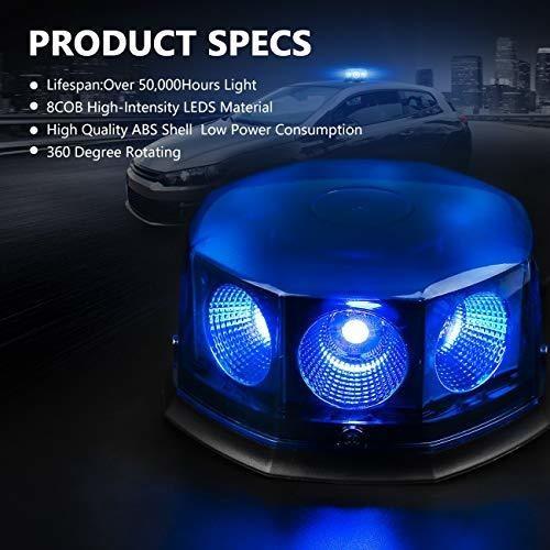 8 piezas de luz de baliza de flash automatico para automovil