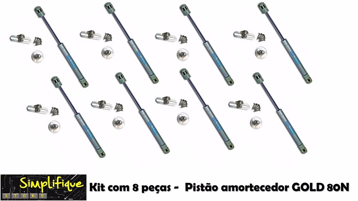 8 Pist O Amortecedor Armario De Cozinha Gold 80n Kit 8 Pe As R