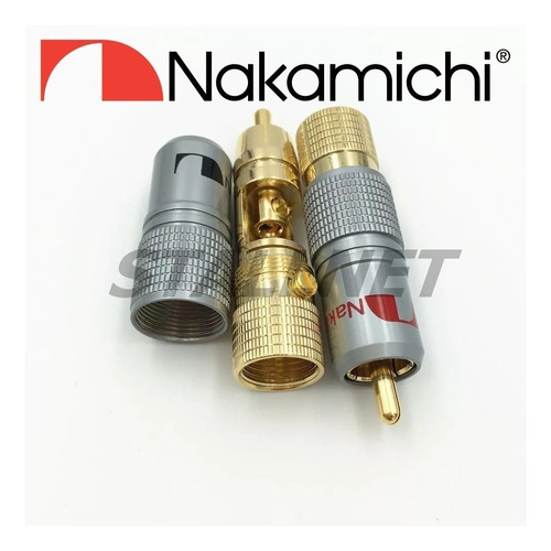 8 plug conector rca nakamichi top made japan pronta entrega