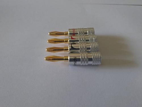 8 plugs nakamichi banana para caixas acusticas e receiver
