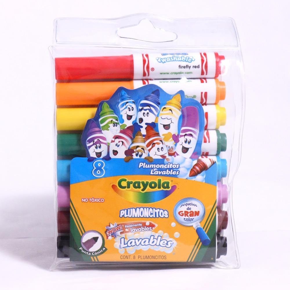 8 Plumoncitos Lavables De Crayola - $ 79.00 en Mercado Libre