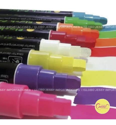 8 plumones de tinta liquida para pizarra led ,vinil ,vidrio
