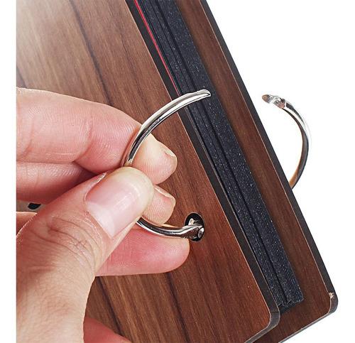 8 polegadas 22 x16 cm diy álbum de foto de madeira scrapboo
