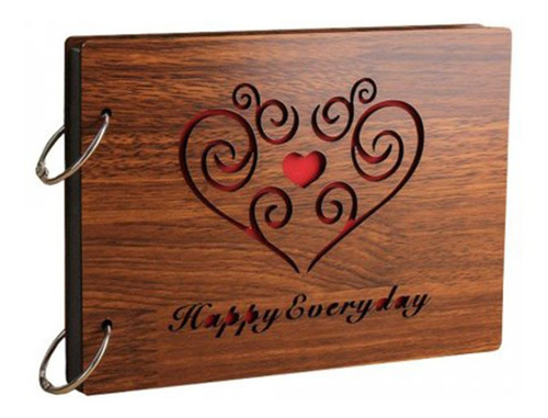 8 polegadas 22 x16 cm diy álbum de fotos de madeira scrapbo