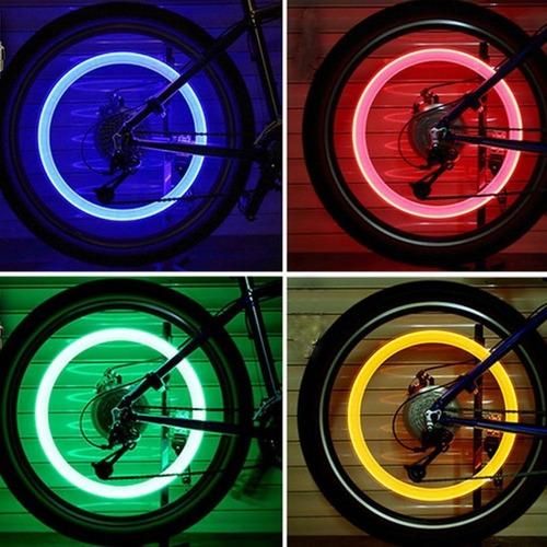 8 pzas de tapon luz led para autos bicicletas motos firefly